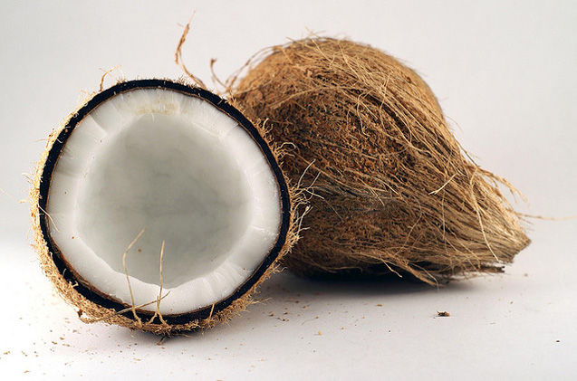 Coconut Opened with Husk